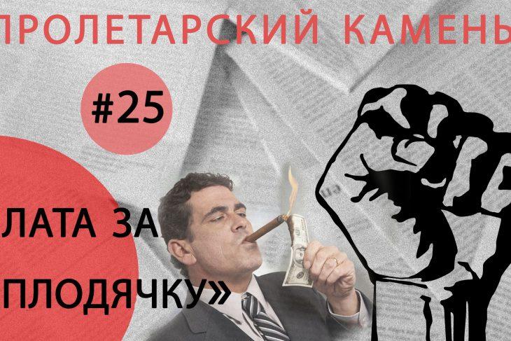 Плата за «плодячку». Пролетарский Камень №25
